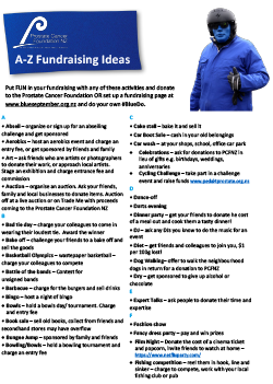 A to Z Fundraising Ideas